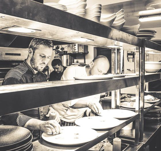 Chefs prepare local food in Bunratty Manor kitchen